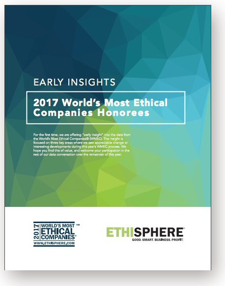 Ethisphere Announces 124 Companies to Make the 2017 World's Most Ethical Companies List