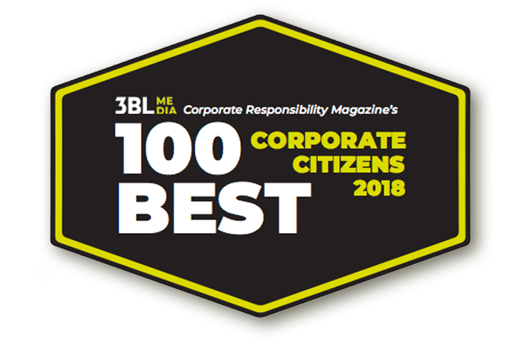 Corporate Responsibility (CR) magazine's 100 Best Corporate Citizens List for 2018
