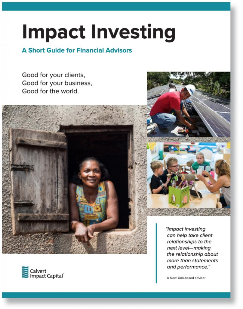 Calvert Impact Capital Launches New Guide-GreenMoney