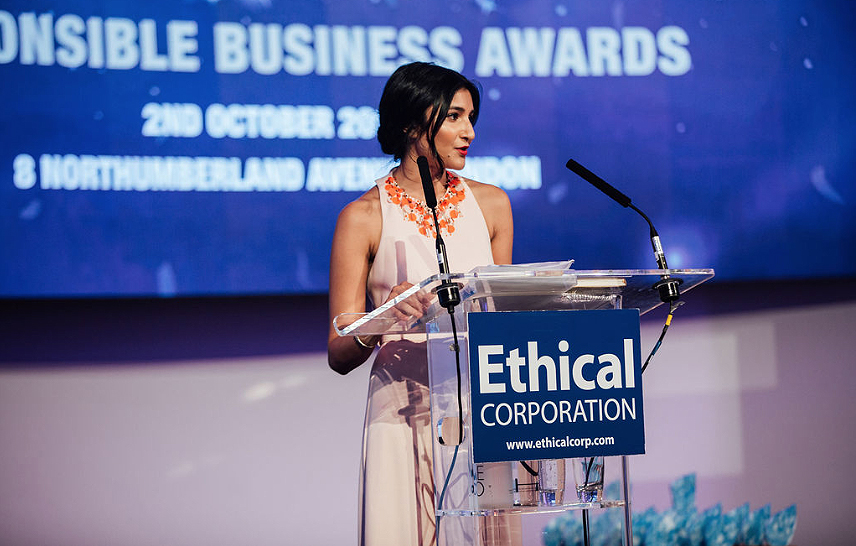 Ethical Corp's Krina Amin welcoming in the 10th Responsible Business Awards-GreenMoney