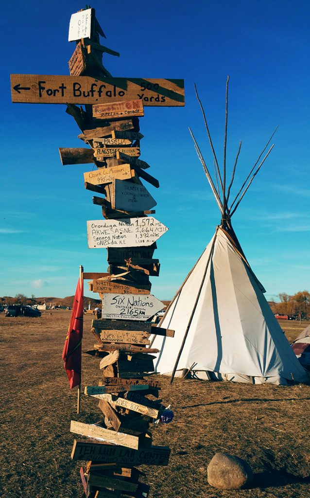 Camp Oceti North Dakota-Wilberta Red Tomahawk