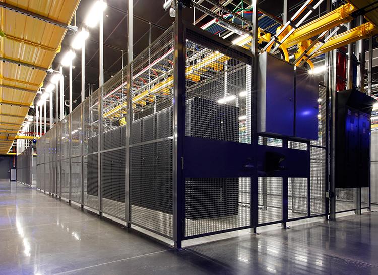Interior of Equinix IBX data center DC12-Wash D.C