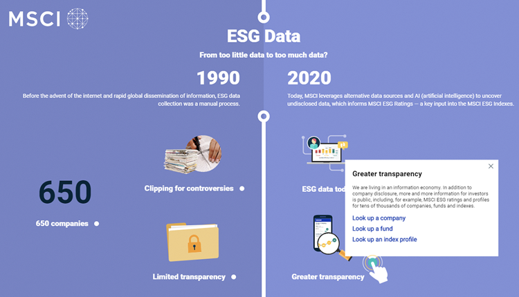 MSCI-ESG Data-From too little to too much data?