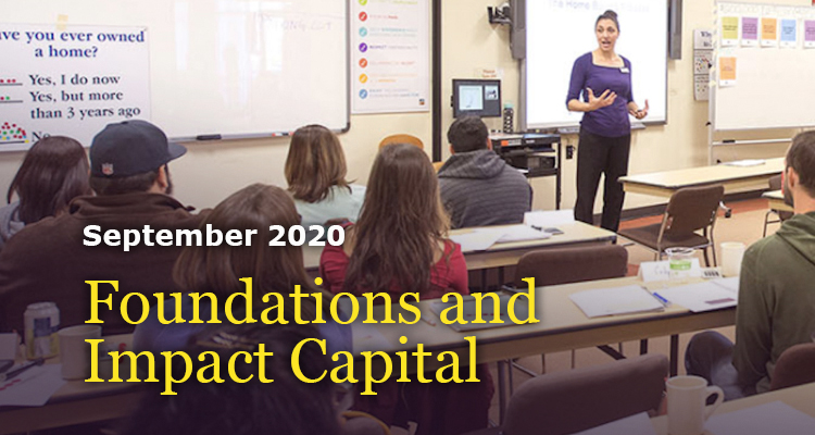 Foundations and Impact Capital-GreenMoney-Sept-2020