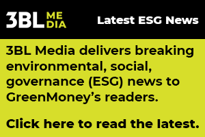 3BL Media delivers breaking enviro social governance news to GreenMoneys readers
