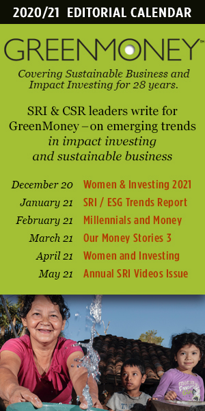 GreenMoney Editorial Calendar Nov.20