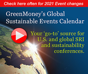GreenMoney Journal - Events Calendar for 2020-2021