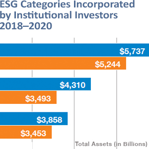ESG Categories Incorporated by Institutional Investors-US SIF Foundation