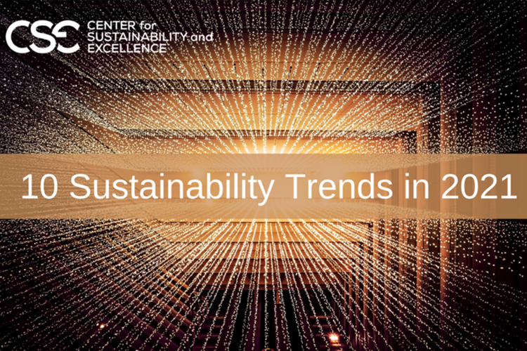 Ten Trends Shaping Sustainability in 2021-from Center for Sustainability and Excellence-GreenMoney