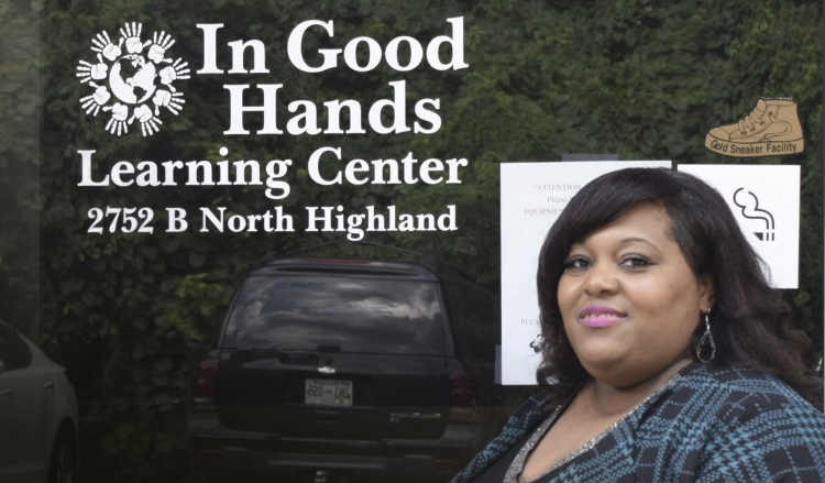 Ebony Harris of In Good Hands Learning Center received funding from CNote partner CDFI