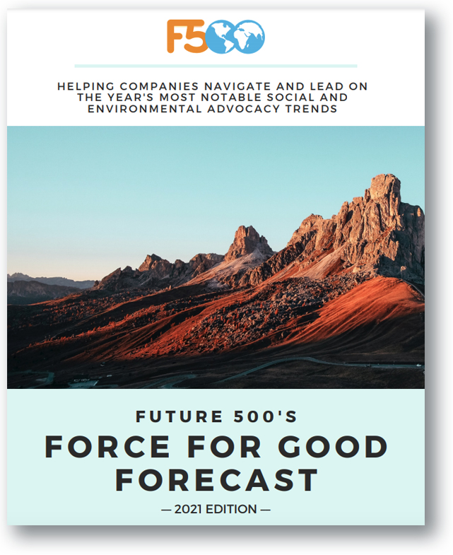 Force for Good 2021 Report from Future 500--GreenMoney